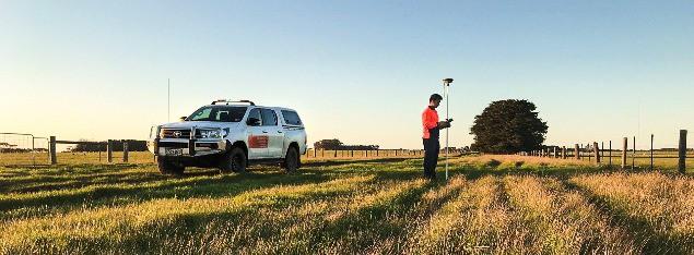 Surveyor on Woolsthorpe Windfarm