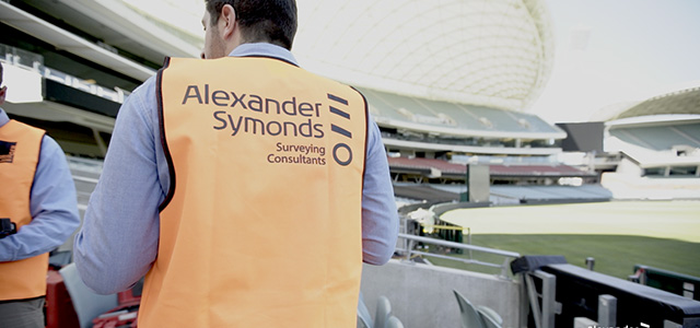 alexander symonds land surveyor at adelaide oval